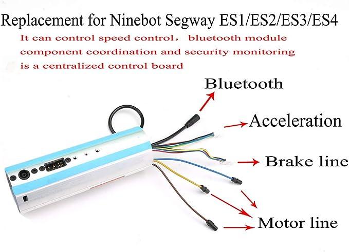 ES2 Chowcencen Panneau de contr/ôle du contr/ôleur Conseil Accessoires Scooter ES4 Carte de Commande Remplacement pour Ninebot Segway ES1 ES3 ES4