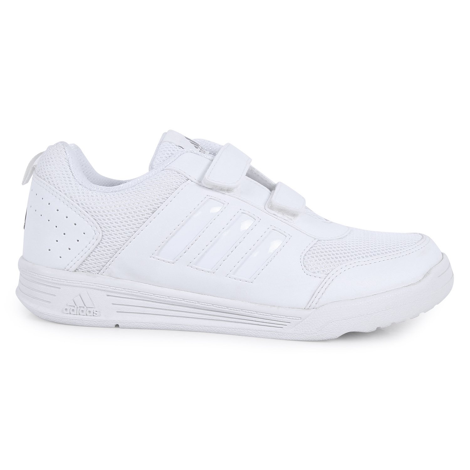1340b7a03af Adidas White School Shoes - Sports Shoes Kids Range (3 to 12 Years)  Buy  Online at Low Prices in India - Amazon.in