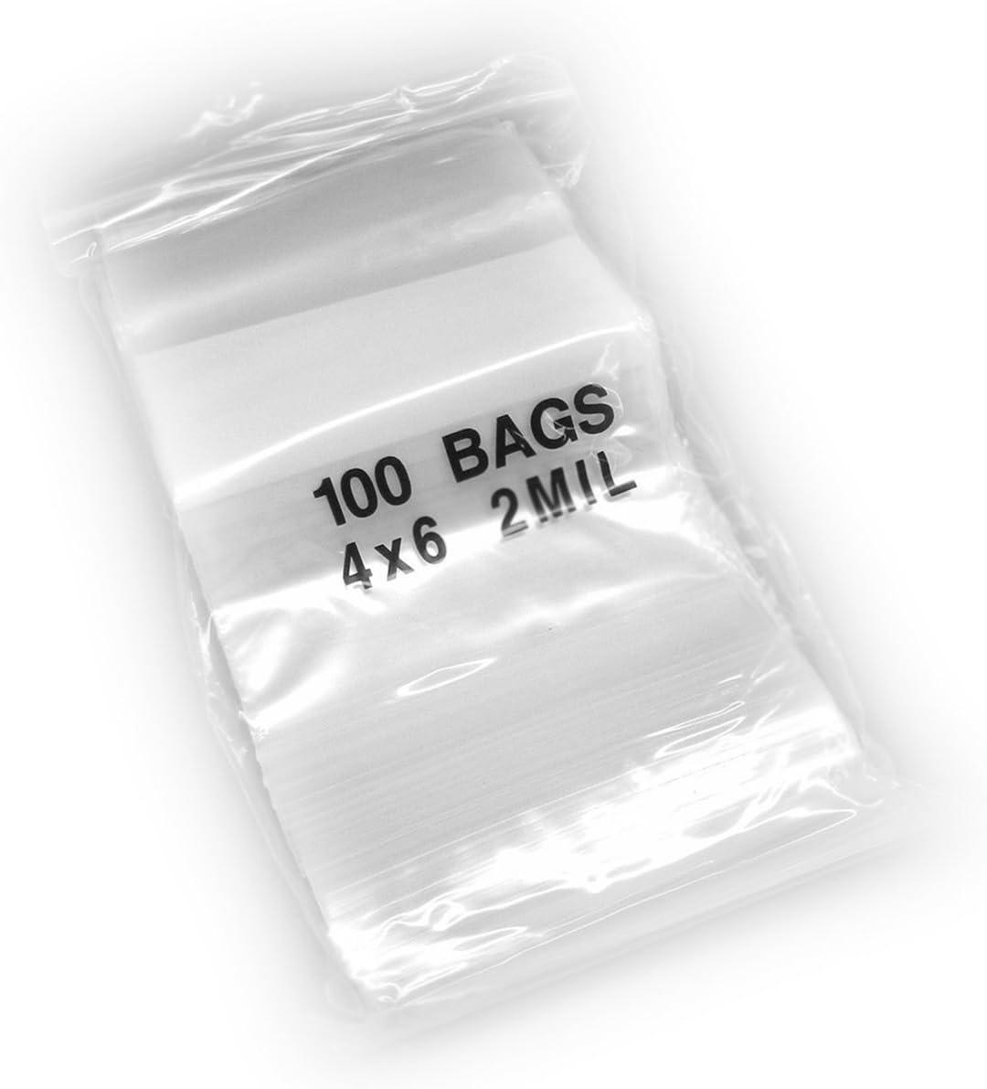 8-Mil Clear Ziplock Bags Heavy Duty Reclosable Plastic Zip Lock Baggies Zipper