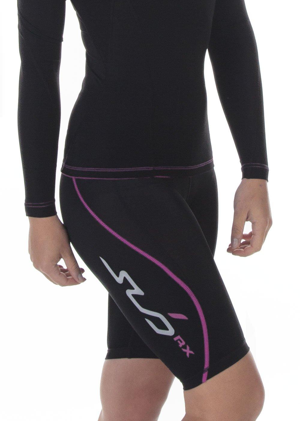 TALLA XL. Sub Sports - Pantalón Corto para Mujer, Color Negro