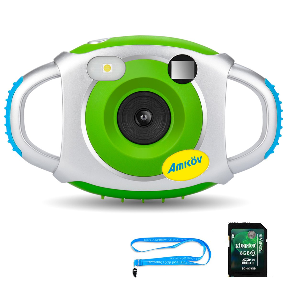 Kids Camera with 8G SD Card, Amkov Electronic Camera for Kids, Children Creative Digital Camera, 5Mp 1.44 Inch TFT Display Video Recording