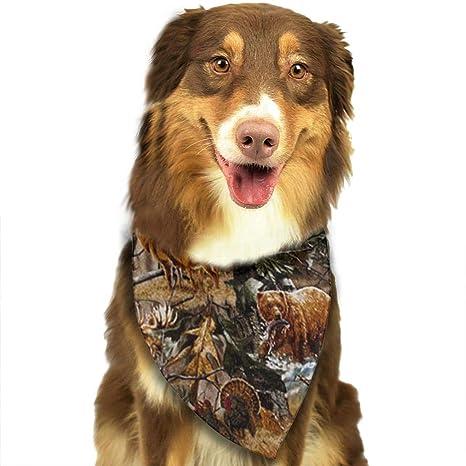 Amazon.com: Bandana para perro, camuflaje, caza, ciervo ...