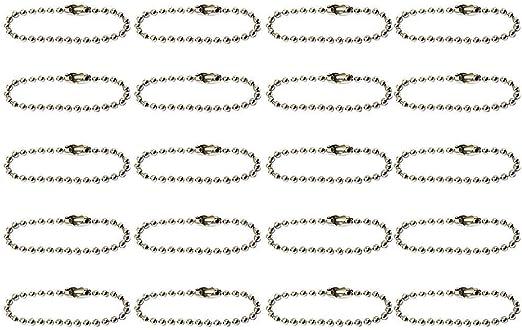 Lyanther 20pcs cha/îne Porte-cl/és /à Billes pour lartisanat de Bijoux Bricolage Argent 10cm