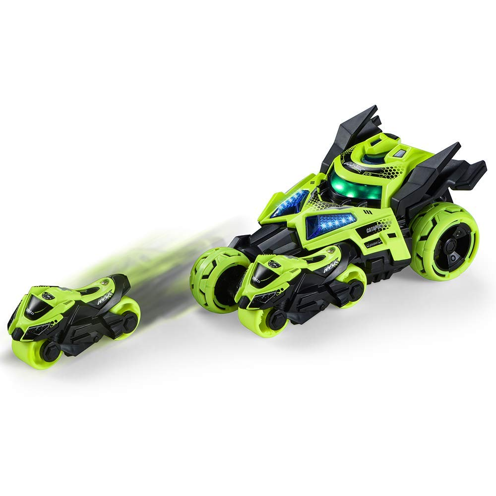 minihorse QUQUMA Pull Back Vehicles, 3 in 1 Race Car Toy, Motorcycle Race Vehicles Toy for Kids Toddlers Boys Child, Pull Back & Go Car Toy Play Set (Green)