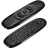 ELEGIANT 2.4Ghz 空中で使えるワイヤレスマウスキーボード エアマウス キーボード Air Mouse + Keyboard 一体型 PC, Andriod TV Boxなど対応可能