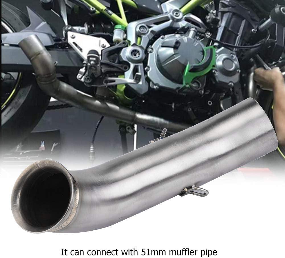 Sistema de escape completo Conexi/ón de tubo medio de ventilaci/ón de motocicleta Conectar para DUKE 250390 RC390 2017-2018