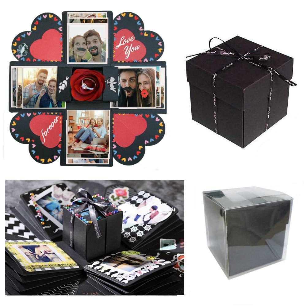 Sparta's Store Caja de Explosión Caja de Regalo Creative Explosion ,Scrapbook Creative DIY Photo Album Lujoso conjunto. ¡Dale los mejores recuerdos! Regalos de vacaciones perfectas, regalos de aniversario, álbumes conmemorativos, regalos de cumpleaños, re