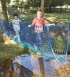 HearthSong® Balance Rope Bridge, Children's Backyard Playground Equipment, Approx. 8 ft Long