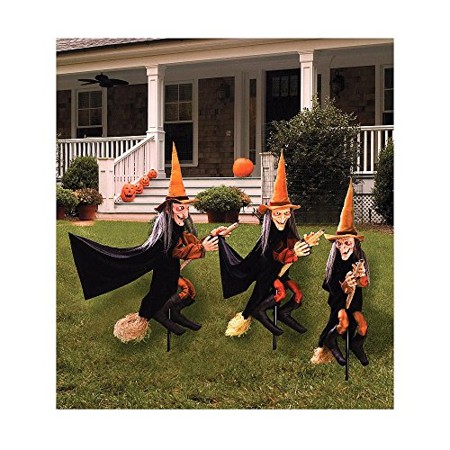 Witches Group Of (Group of Spooky Witch Lawn)