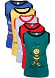Goodway Gkidz Infants Did You Know Printed Vest T-Shirts Theme-1 Pack of 5 (JB5PCK-VEST-DYK-1-COL_ Multicolor) at amazon