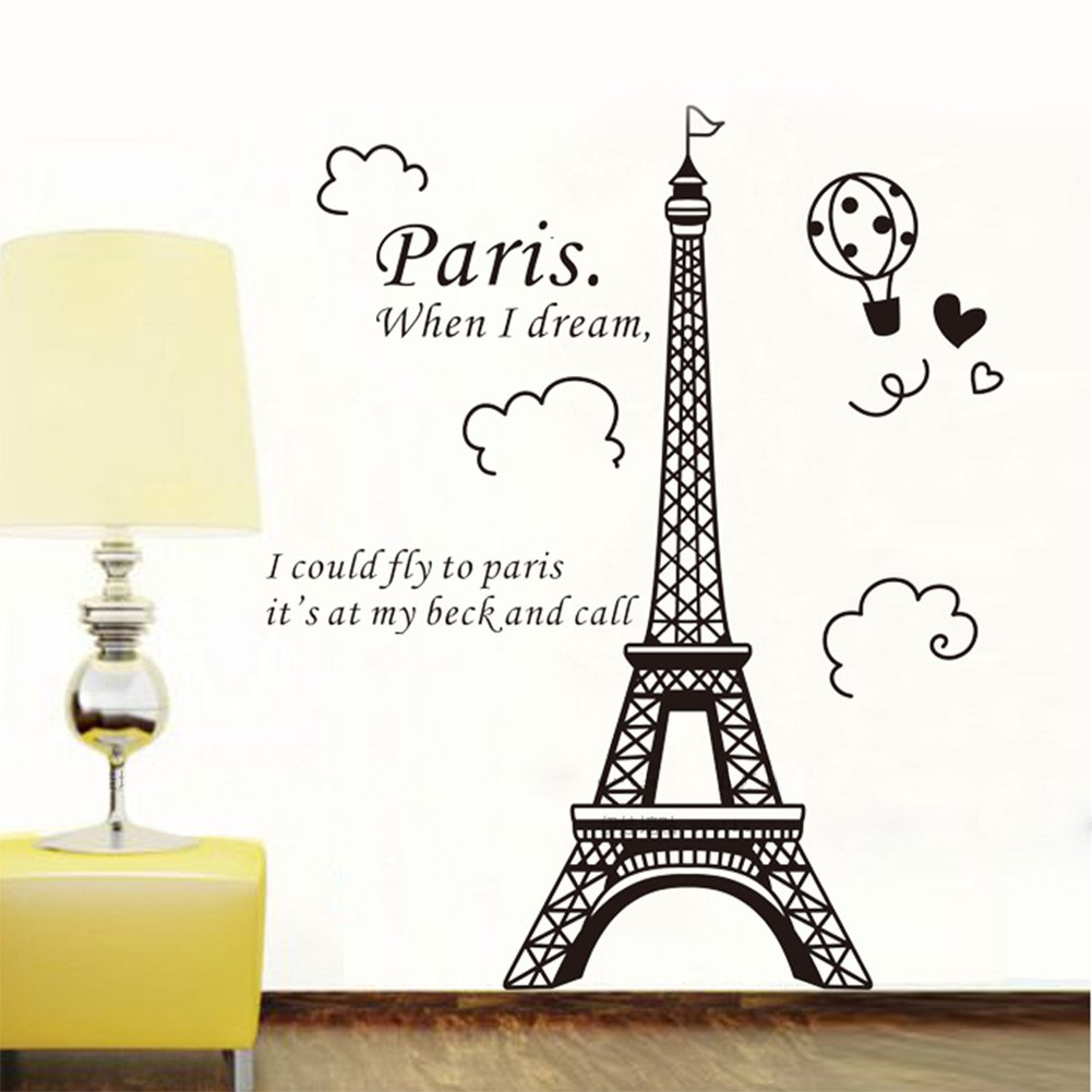 1 X Eiffel Tower DIY Removable Art Vinyl Wall Sticker Decor Mural Decal      Amazon.com