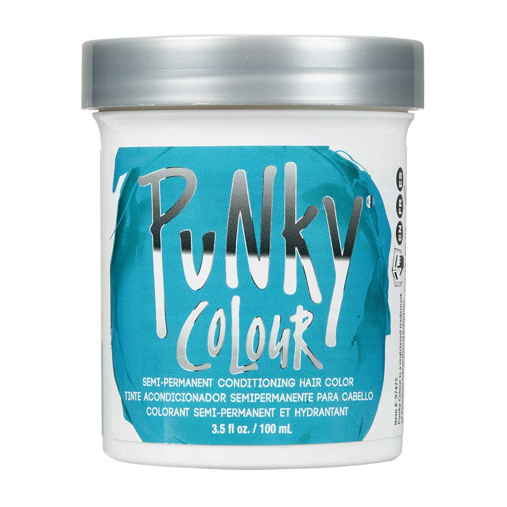 Amazon Com Punky Turquoise Semi Permanent Conditioning Hair Color Vegan Ppd And Paraben Free Lasts Up To 25 Washes 3 5oz Chemical Hair Dyes Beauty