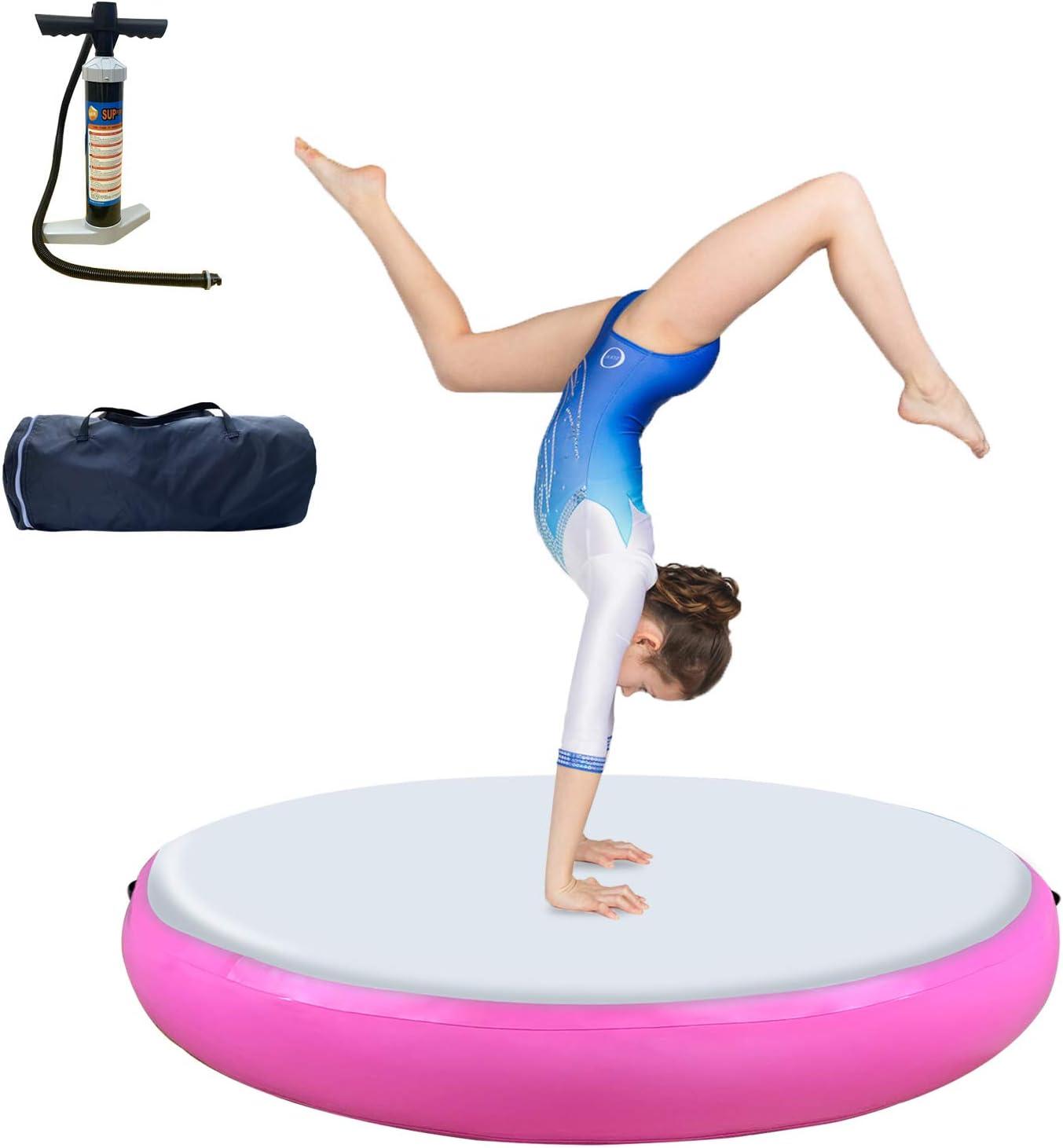 Gymnastics Mats Series Air Roller Air Block Air Spot Inflatable Tumbling Mat, Air Barrel Tumble Track Gymnastic Equipment for Gym Home Use Training Cheerleading Yoga