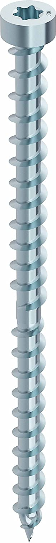 HECO-CC Holzbauschraube Zylinderkopf 6,5x150 TX30  mit Zulassung, 100 Stü ck, verzinkt-blau,48284