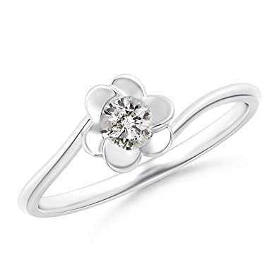 Angara Solitaire Diamond Clover Bypass Ring