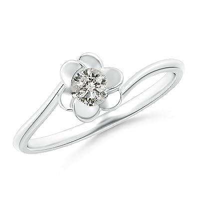 Angara Solitaire Diamond Clover Bypass Ring epvX6V3cY