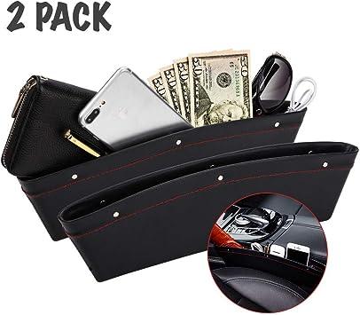Black TRENDBOX 2 Pack Car Seat Gap Filler Car Seat Side Organizer with Non-Slip Mat