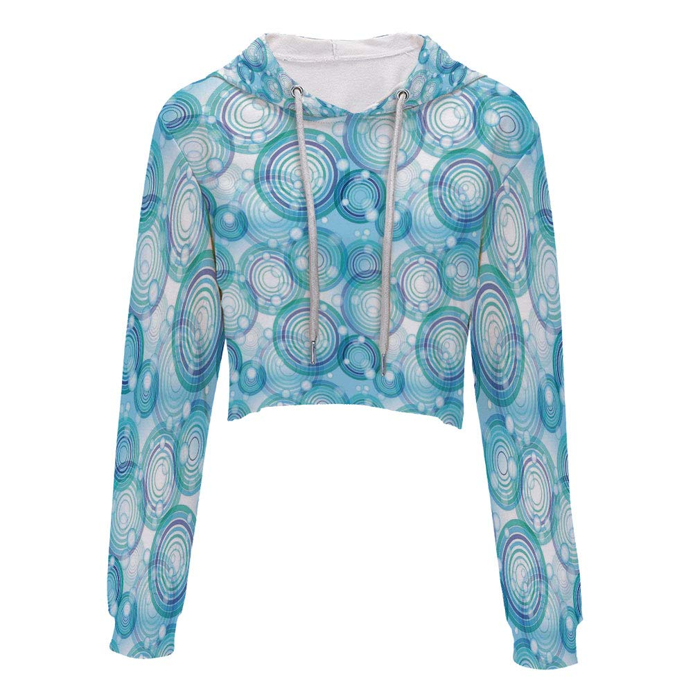 Hooded Sweatshirt Hip hop Clothing for Women S//M Modern Contemporary Abstract S