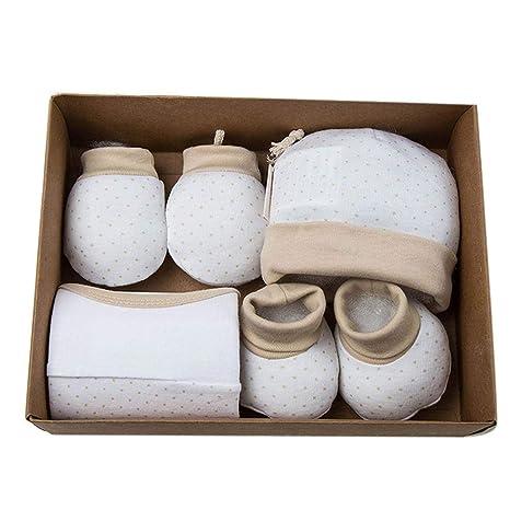 Caja de 4 lunas para bebé - Caja de regalo Guantes y fundas Sombrero Saliva Toalla