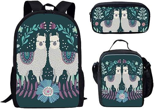 Coloranimal 3PCS//Set of Children School Backpacks+Lunch Pouch+Pencil Cases