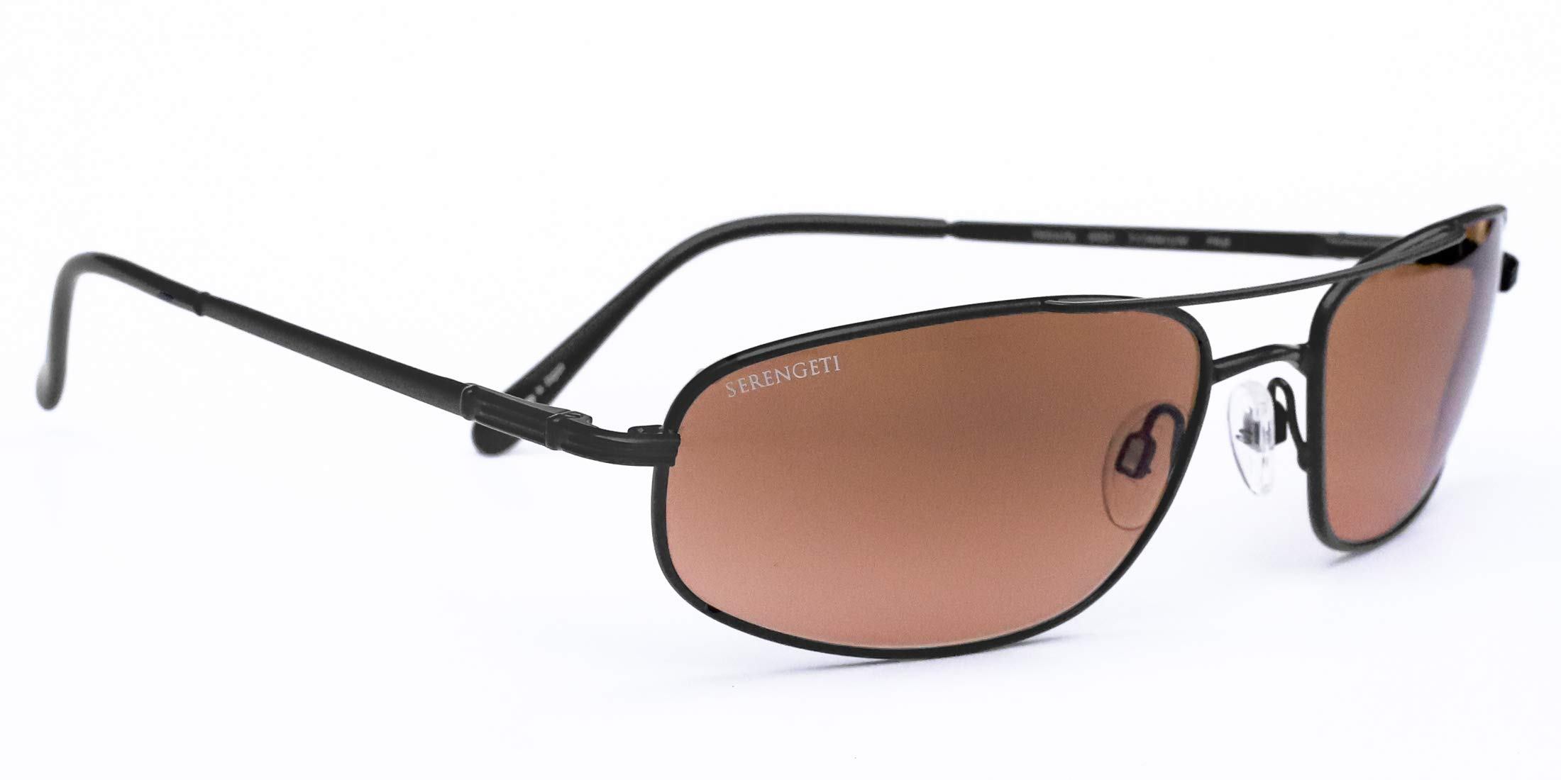 Serengeti Velocity Sunglasses (Satin Black) with Silicon Gel Nose Pads by Serengeti