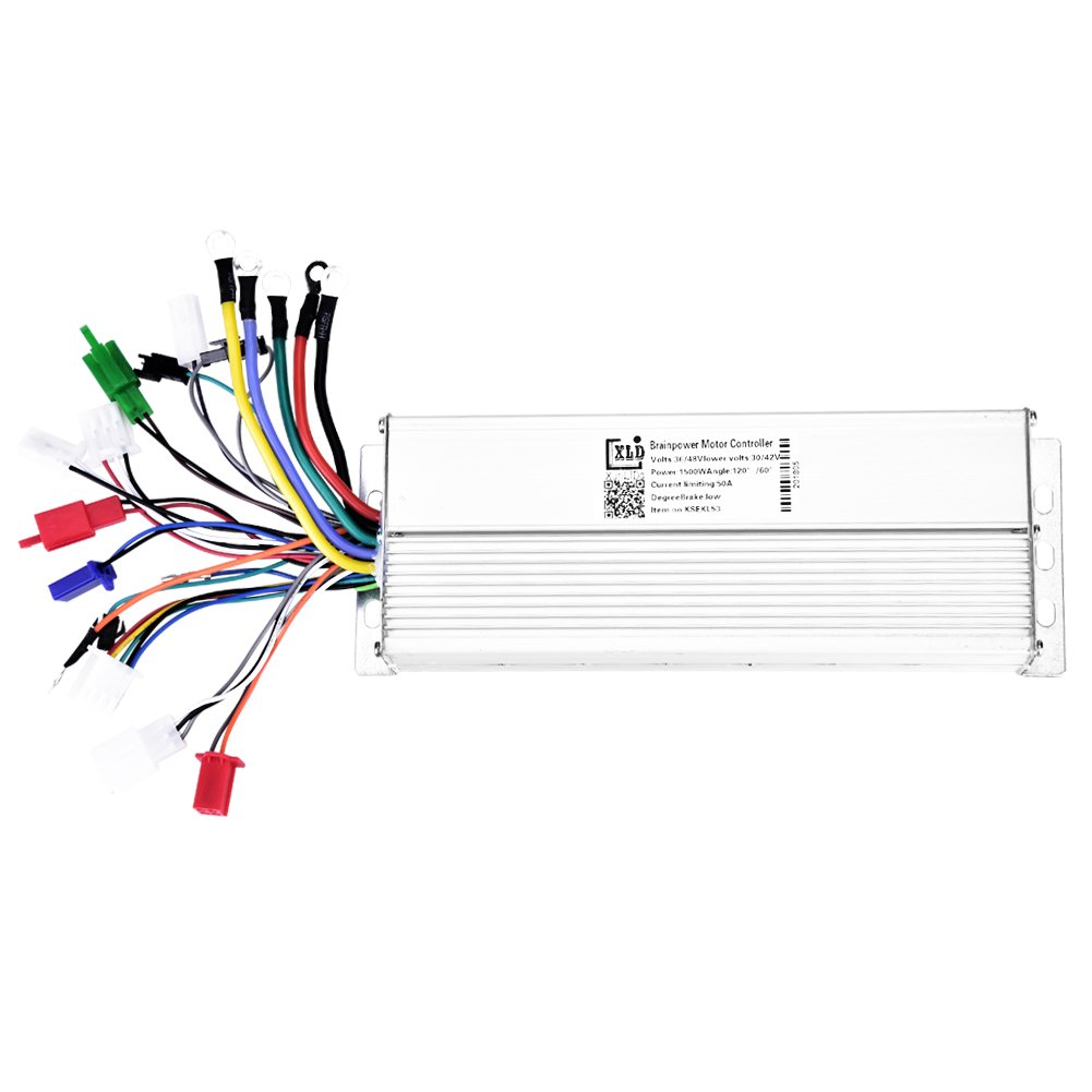 Dilwe Electric Bicycle Speed Controller, 36V/48V1500W Brushless Controller Aluminum Alloy Brushless Motor Sine Wave Controller