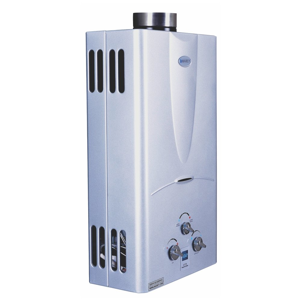 Marey Power Gas 10L Digital Panel Tankless Water Heater