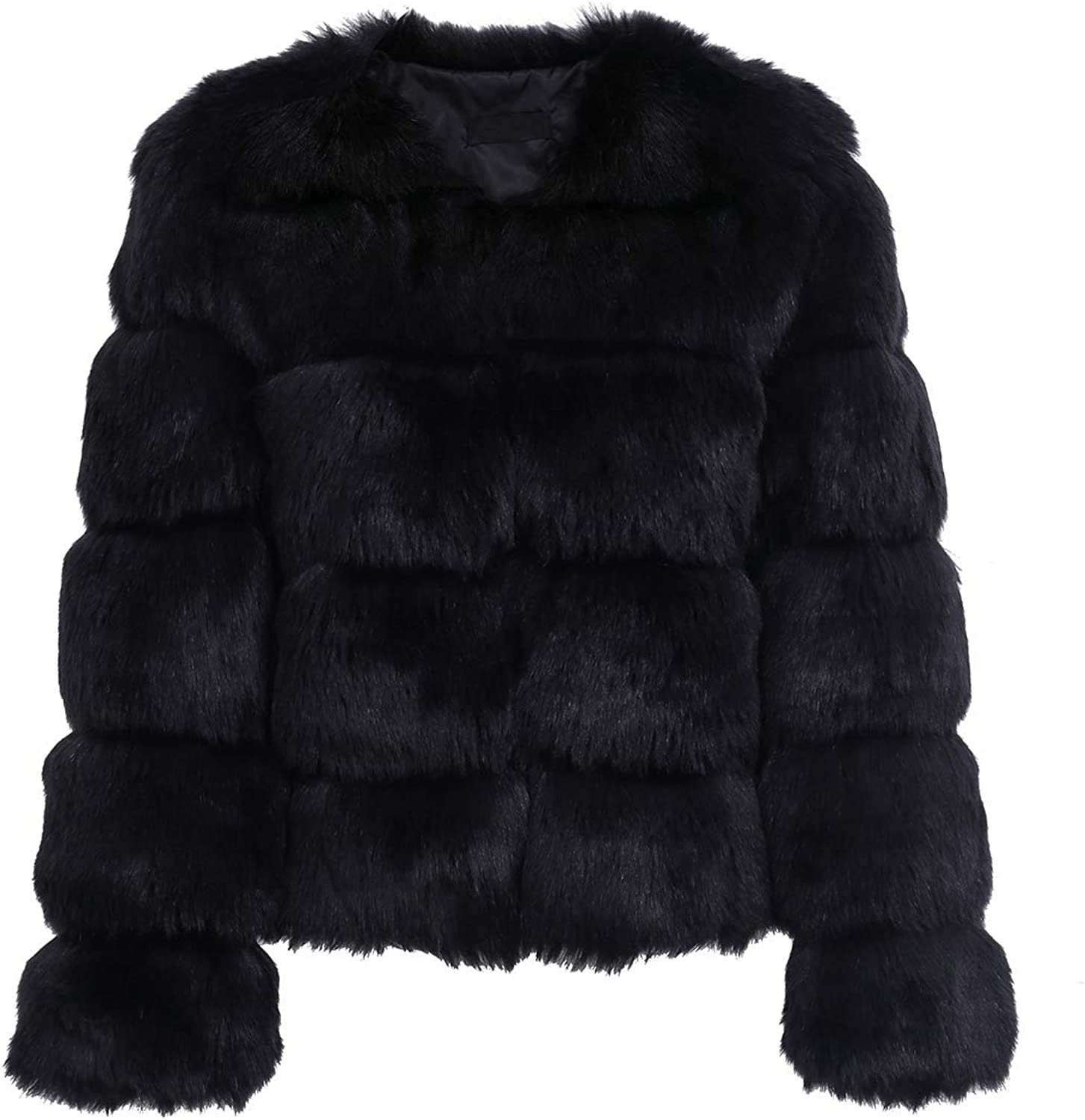 Black Fluffy Parka