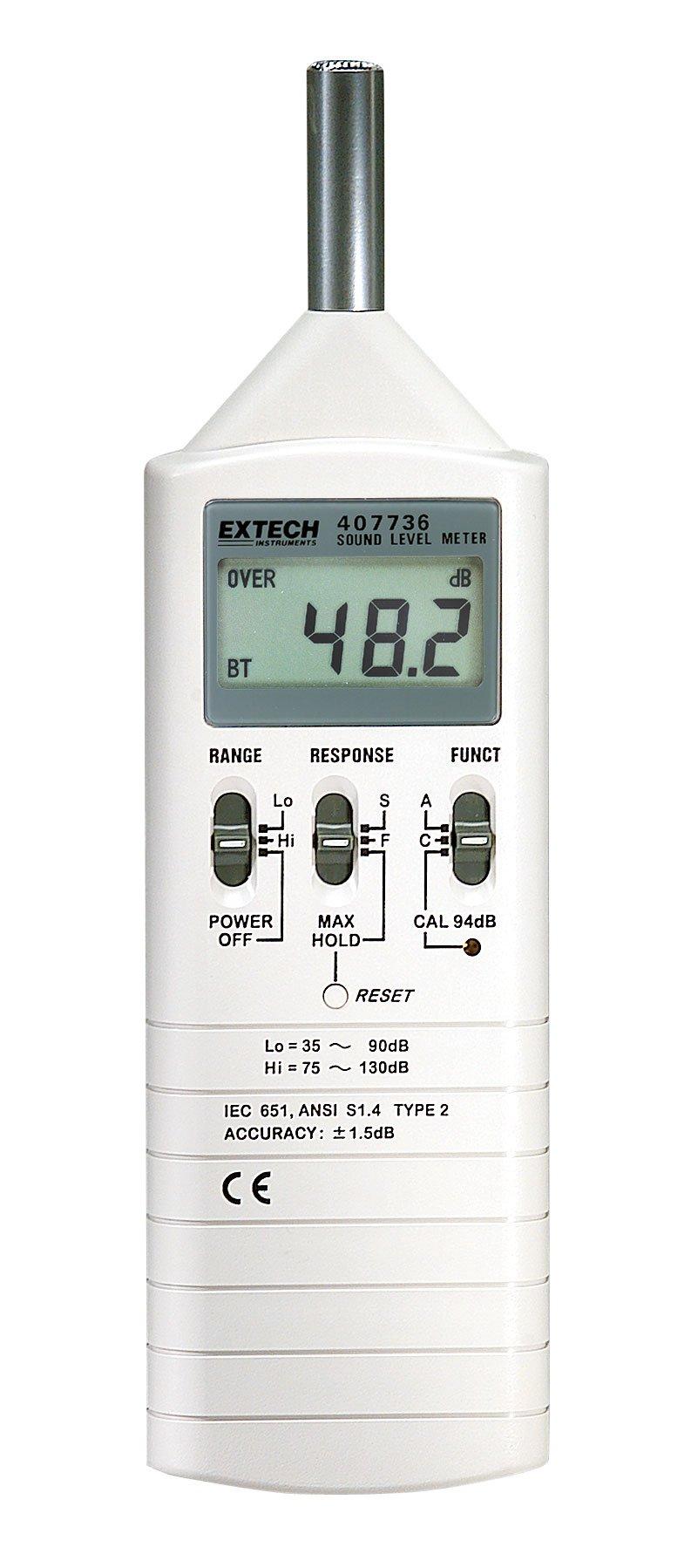 Extech 407736 Dual Range Type 2 Sound Lever Meter
