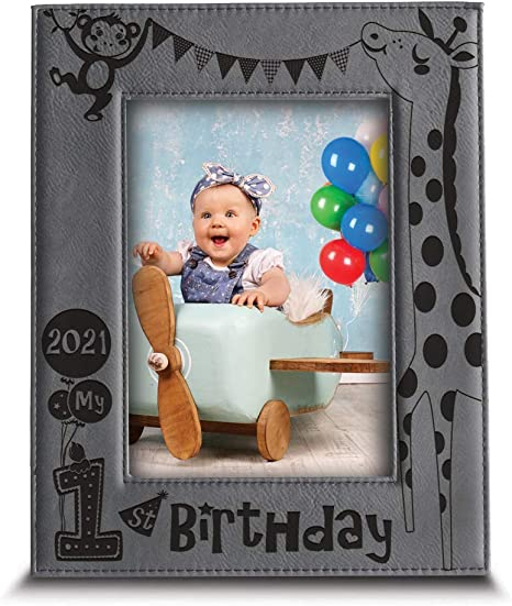 First Birthday Blue Picture Frame