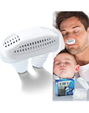 Anti-Snoring Device-2 in 1 Nose Vents Plugs Snore Stopper with Air Purifying Filter and Breath Improving White