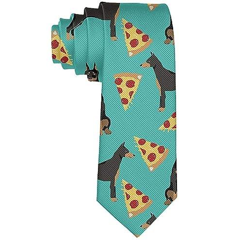 Formal Doberman Pinscher Pizza Hombres Traje casual Corbata de ...