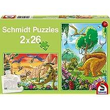 SCHMIDT Child 2 X 26 Dinosaur Friends Puzzle, 26-Piece