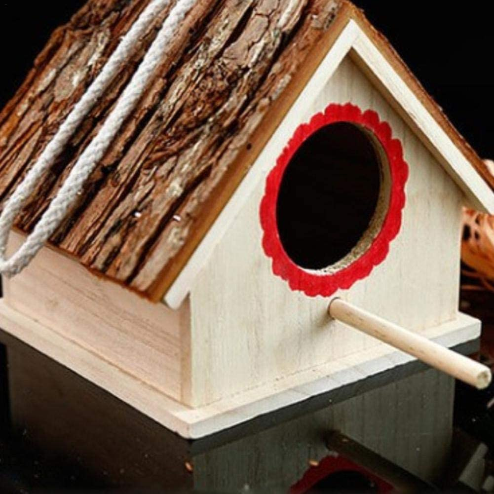 Somedays Wooden Nesting Box Bird House Natural Wood Birdhouse Nest for Dove Finch Wren Sparrow Small Animal Hummingbird