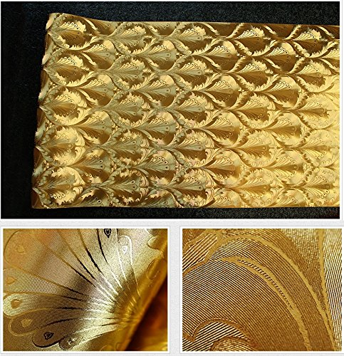 HaokHome 7075 Vinyl Gold Metallic Damask Wallpaper Shiny Glitter For Living Room WallPaper Rolls 208 X 3937