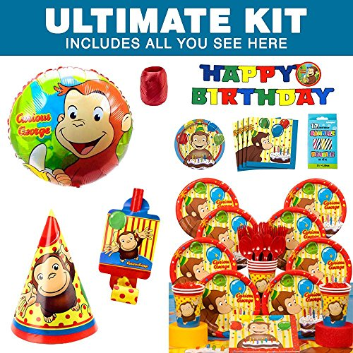 Costume Supercenter BB010941 Curious George Party Ultimate Kit Serves 8 Guests