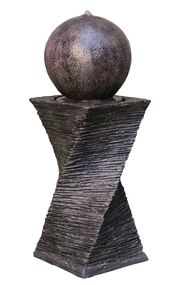 30'' Floating Sphere Fountain: Outdoor Water Feature, Garden Fountain, Patio Fountain. Great Water Fountain for All Outdoor Spaces