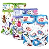 Paw Legend Reusable Female Dog Diapers(3 PACK,Adorable,Small)