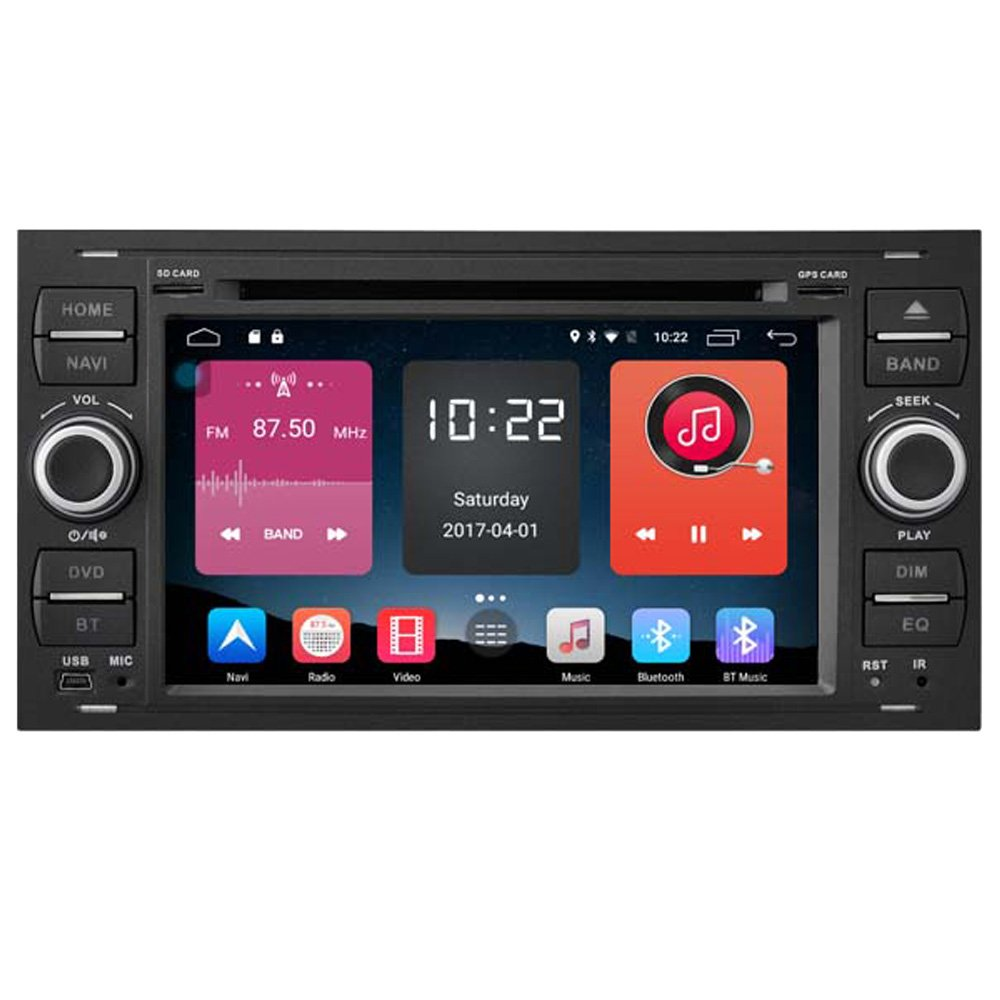 Autosion In Dash Android 6.0 Car DVD Player Sat Nav Radio Head Unit GPS Navigation Stereo for Ford Focus Fiesta Fusion C-Max Galaxy Tourneo Transit Kuga Support Bluetooth SD USB Radio OBD WIFI DVR
