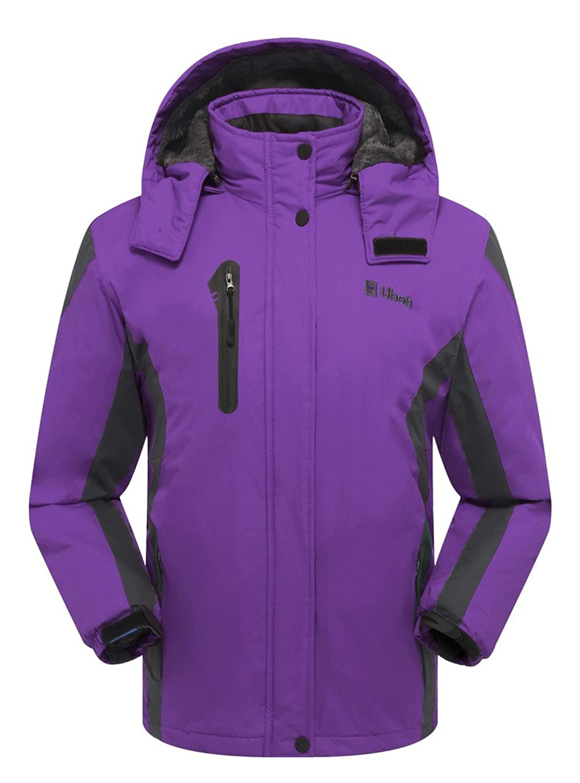 Amazon.com: Ubon Women's Winter Outdoor Waterproof Raincoat ...