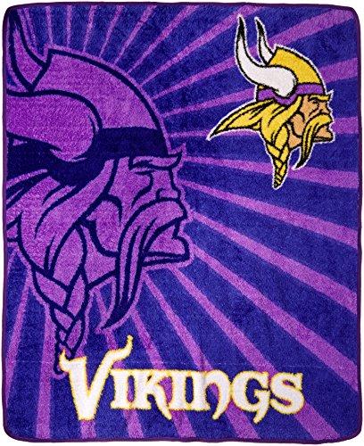 The Northwest Company Officially Licensed NFL Minnesota Vikings Strobe Sherpa on Sherpa Throw Blanket, 50