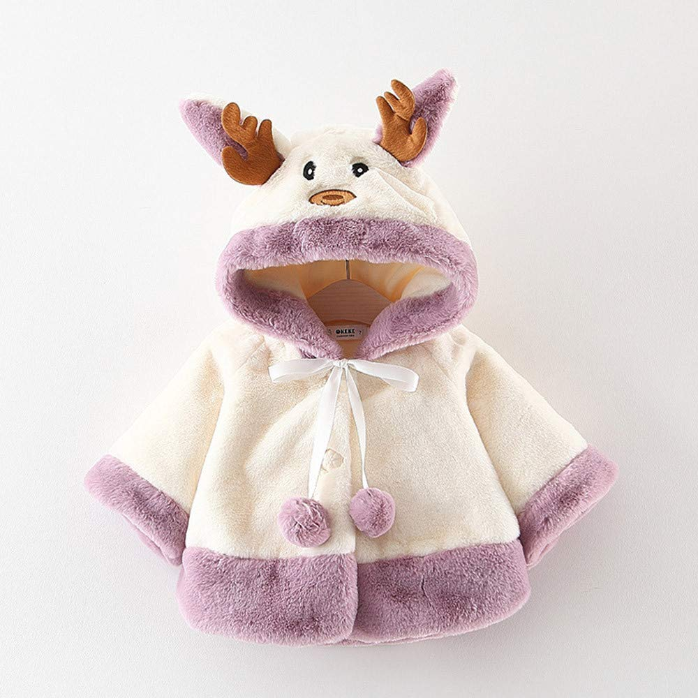 Children Baby Christmas Costume Deer Hooded Cloak Cape Willsa Baby Girl Clothes