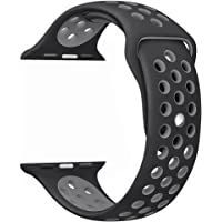 Tirnga Apple Watch Band Soft Silicone Sport Strap