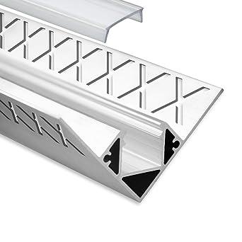 Led Aluminium Fliesenprofil Inneneck F8 Hamal 2 Meter Inkl
