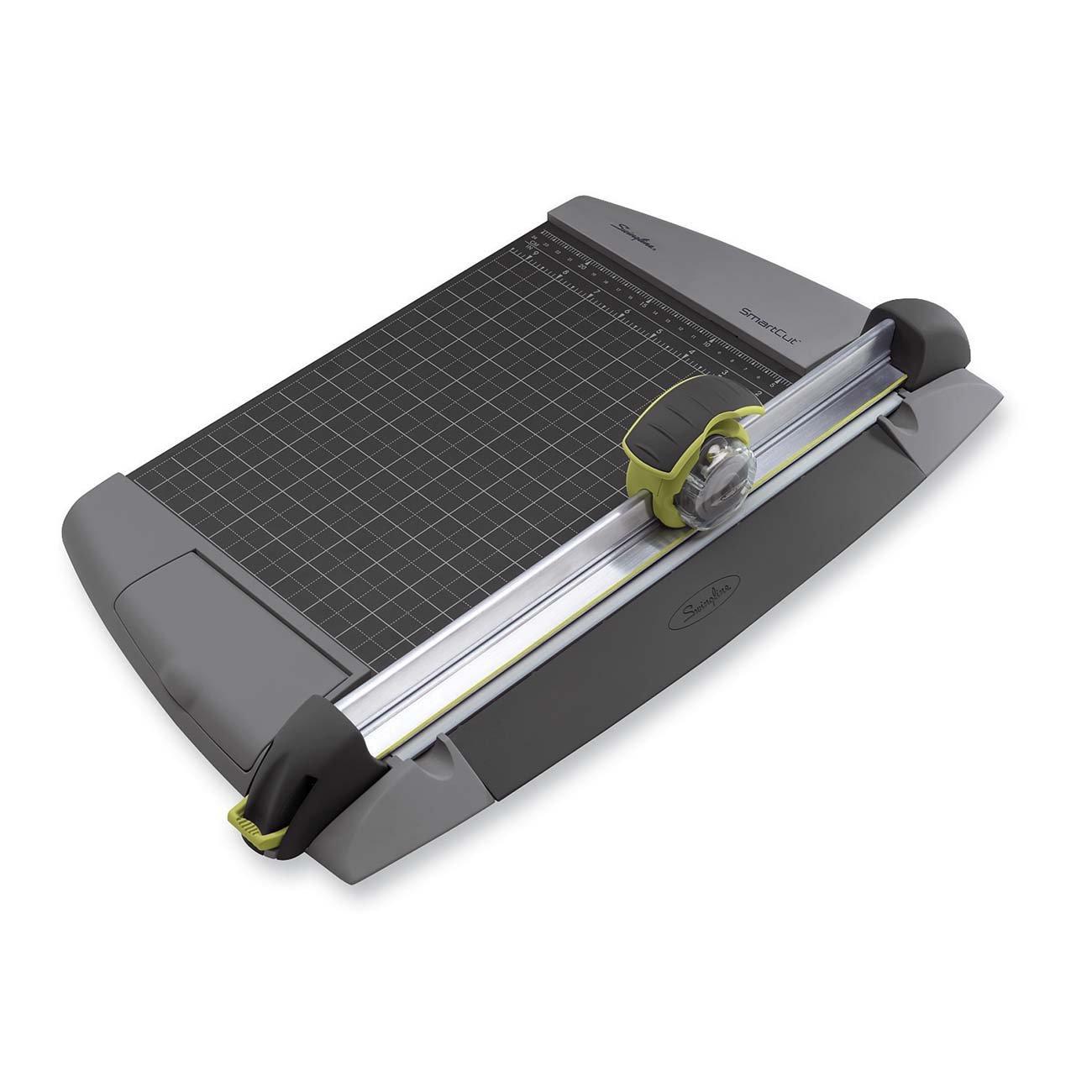 Swingline Paper Trimmer / Cutter, Rotary, 12'' Cut Length, 15 Sheet Capacity, SmartCut EasyBlade Plus (8912)