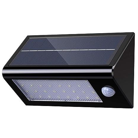 Luces Solares Para Exterior, Luz Nocturna, Impermeable con 32 LEDs y Sensor de Movimiento