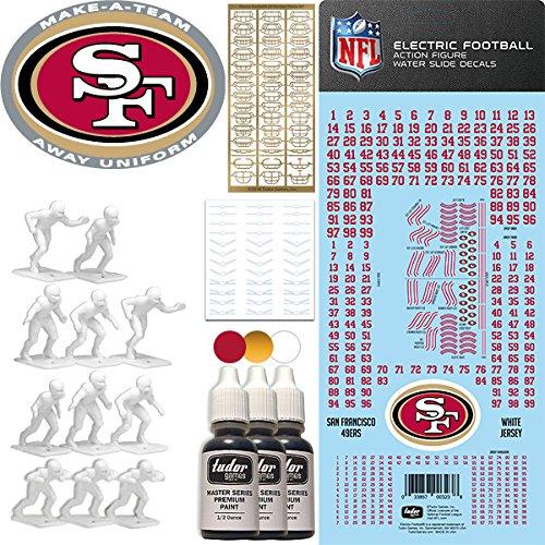 NFL San Francisco 49ers NFL Away Uniform Make-A-Team Kit for Electric Football