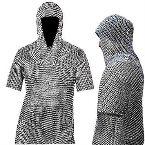 NASIR ALI Aluminium Chainmail Shirt Butted Aluminum Chain Mail Haubergeon Medieval (Costume Medievale Ebay)