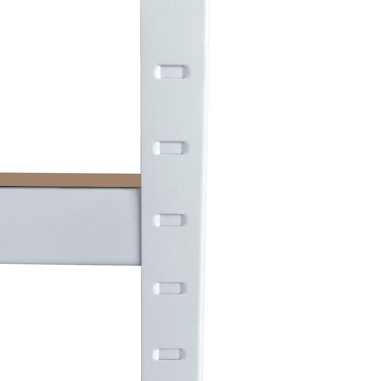 Stabile MDF Regalb/öden mit variabler H/öhe /& abgerundeten Kanten MIDORI/© Verzinktes Lagerregal mit den Ma/ßen 180 x 90 x 45 cm /& einer Traglast von 875 kg