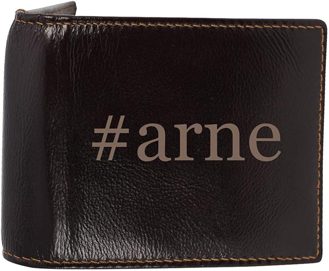 #arne - Genuine Engraved Hashtag Soft Cowhide Bifold Leather Wallet 61uYEAC2B9tL